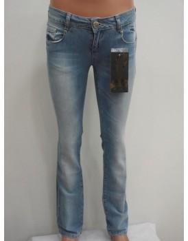 Lacivert - Beyaz Kadın Kot Pantolon