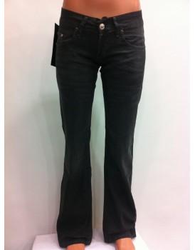 Siyah İspanyol Paça Kadın Kot Pantolon