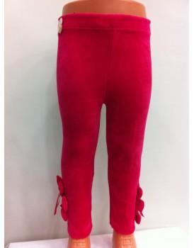Kırmızı Kız Çocuk Kadife Tayt