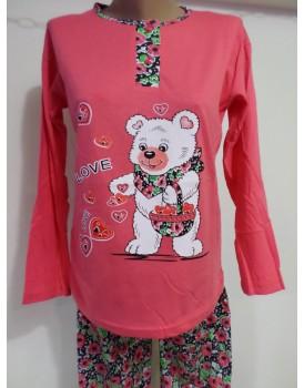 Baskılı Bayan Pijama Takımı