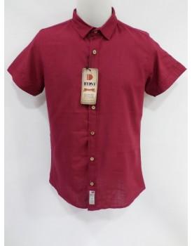Düz Klasik Kırmızı Erkek Gömlek