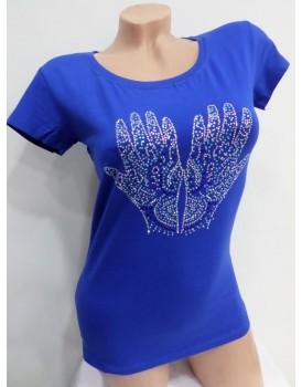 Mavi Baskılı Bayan Body