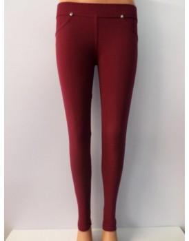 Kırmızı Bayan Streç Pantolon Tayt