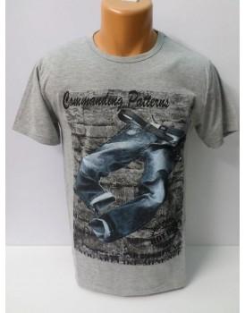 Baskılı Farklı Renkleriyle Erkek T-Shirt